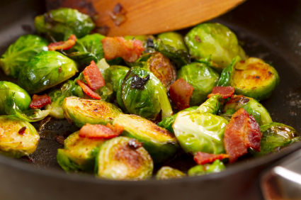 brussels sproutsbacon Roasted Brussels Sprouts With Bacon