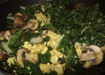 egg, mushroom and swiss chard scramble lg