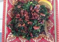 Lentil kale bacon salad lg