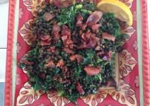 Lentil kale bacon salad lg