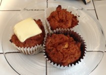 Paleo carrot ginger apple muffins
