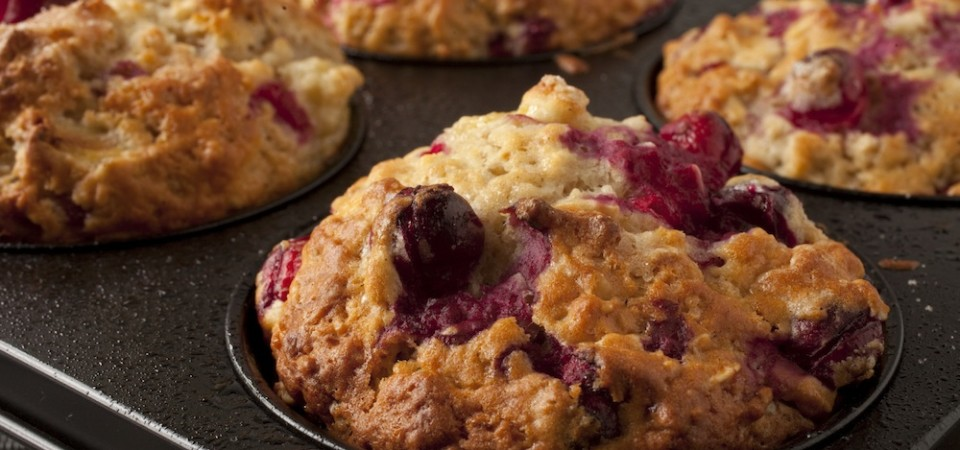 (Almost) Paleo Cranberry Muffins